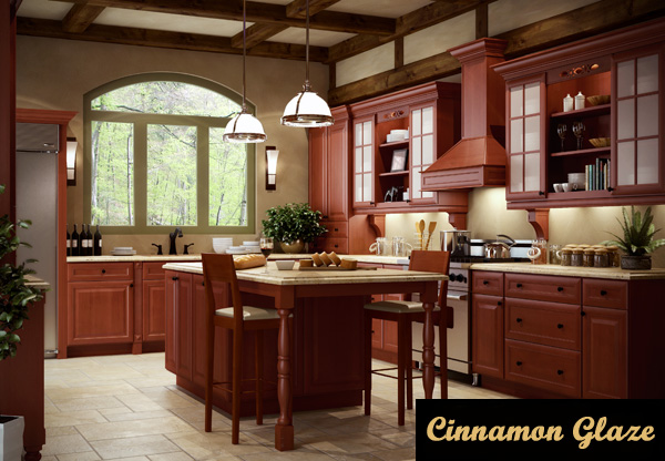 cinnamon glaze kitchen cabinets