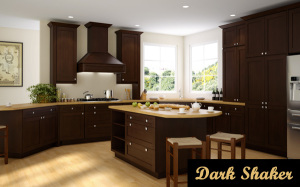 dark shaker kitchen cabinets