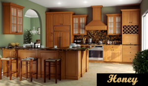Honey kitchen cabinets in Ridgefield Park NJ
