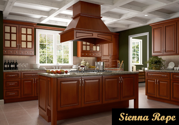 sienna rope kitchen cabinets