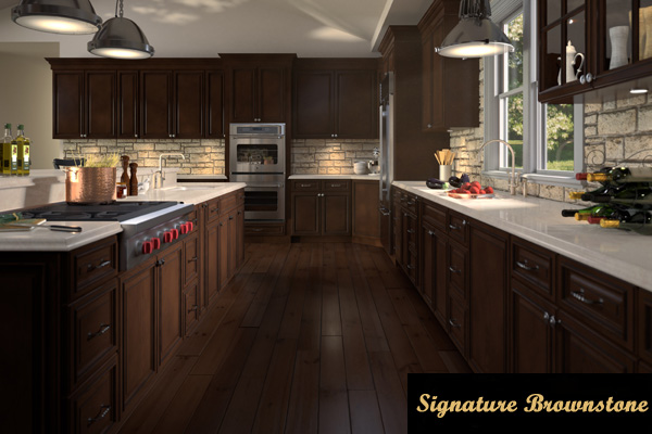 BEAUTIFUL SIGNATURE BROWNSTONE KITCHEN CABINETS. Signature_Brownstone