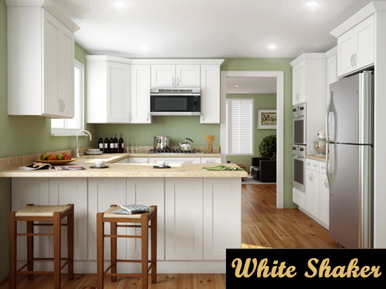 white shaker kitchen cabinets in Verona NJ