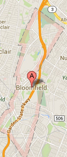 bloomfield NJ map