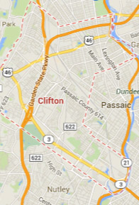 clifton NJ map