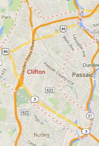 clifton NJ map