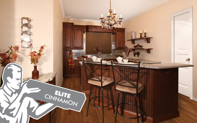 elite cinnamon kitchen cabinets