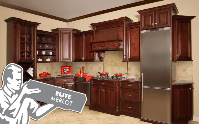 elite merlot kitchen cabinets fabuwood
