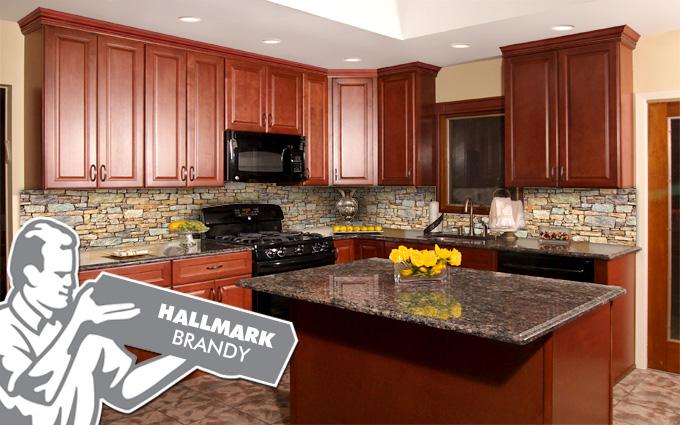 hallmark brandy kitchen cabinets in belleville NJ