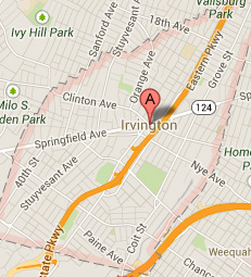 IRVINGTON NJ MAP