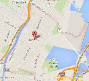 kearny NJ map