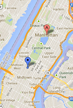 manhattan ny Map