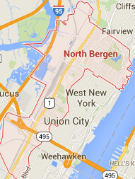 north bergen NJ map