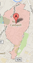 north caldwell nj map