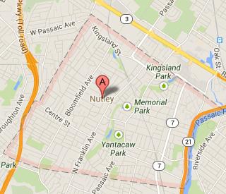 nutley NJ map