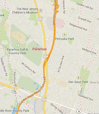 paramus NJ map