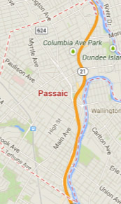 passaic NJ map