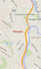 passaic NJ map