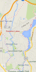 pompton lakes NJ map
