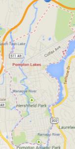 pompton lakes NJ map