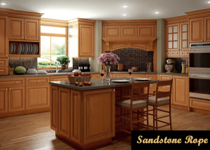 sandstone rope kitchen cabinets
