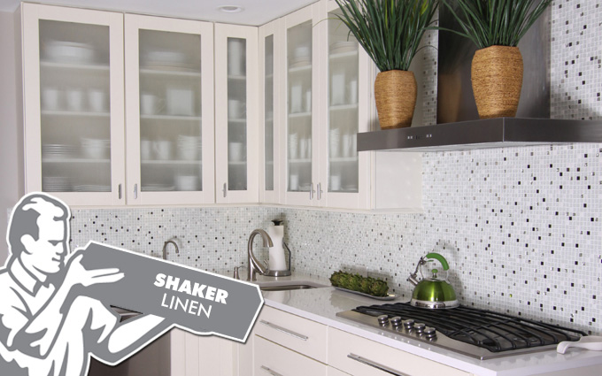 shaker linen kitchen cabinets fabuwood