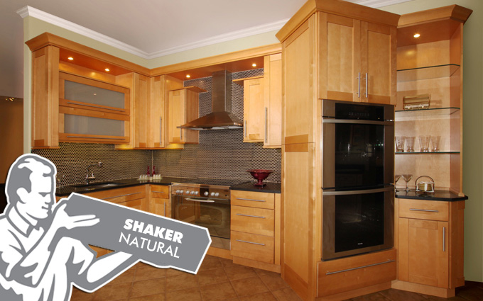 shaker natural kitchen cabinets fabuwood