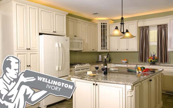 wellington ivory kitchen cabinets in hackensack NJ
