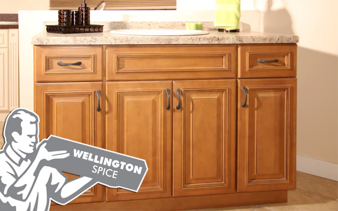 wellington spice kitchen cabinets