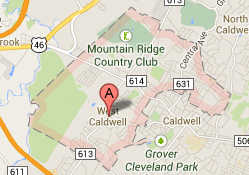 west caldwell nj map