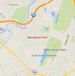 woodland park new jersey map