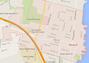 nyack new york map