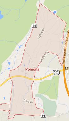 pomona ny map