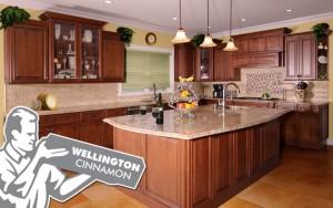 wellington cinnamon kitchen cabinets