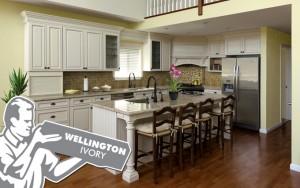 wellington ivory kitchen cabinets in weehawken NJ