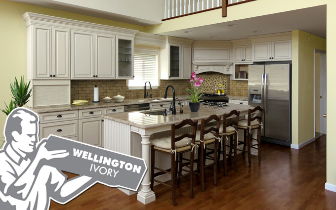 wellington ivory kitchen cabinets in chester NJ