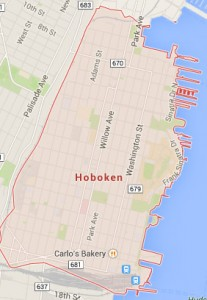 hoboken nj map