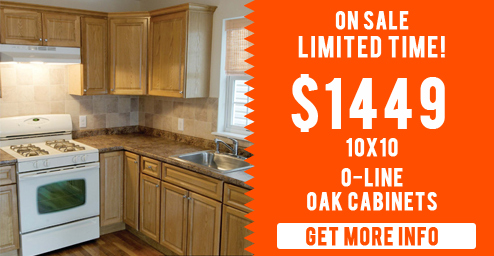 Call us today at (201) 655-2240 to make an appointment or come by our New Jersey showroom! oak kitchen cabinet special