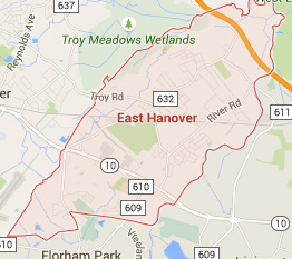east hanover new jersey map