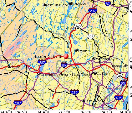 lincoln park nj map