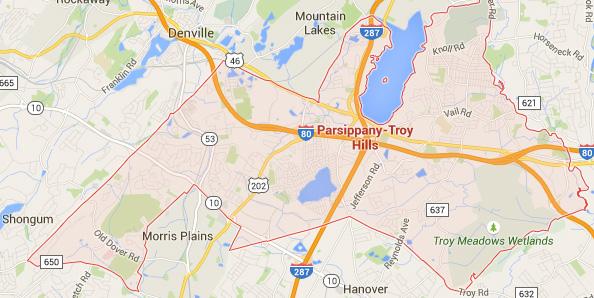 parsippany nj map