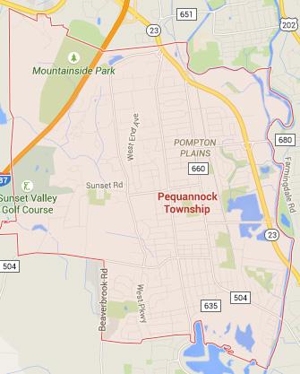 pequannock nj map