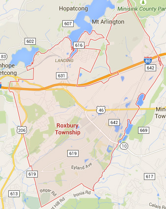 roxbury nj map