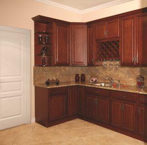 Beautiful Landmark Brandy Kitchen Cabinets