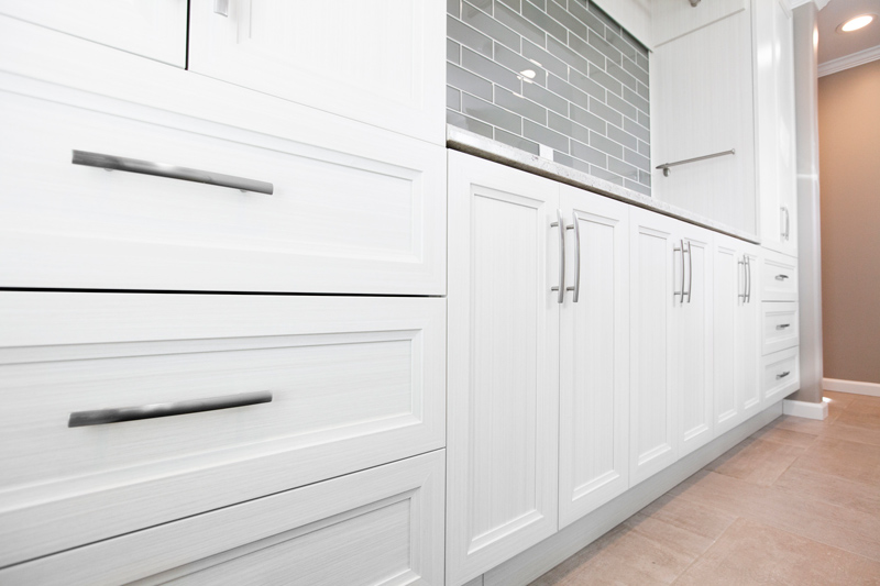 Closet system in white finish