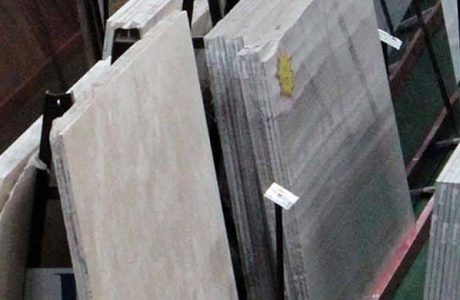 Granite slabs in warehouse