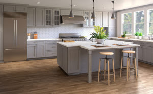 Nova Light Grey Shaker kitchen cabinets in Chatham NJ